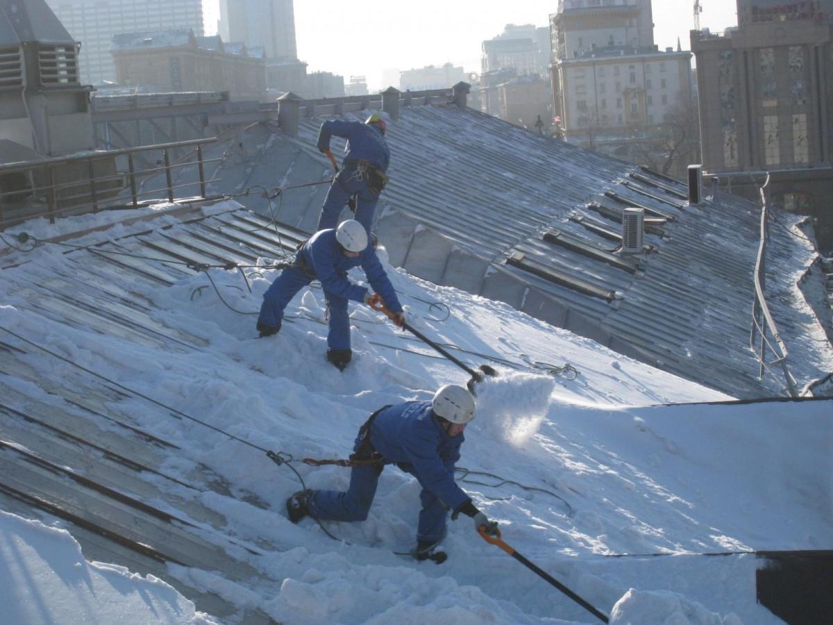 Инструкция по очистки крыш от снега